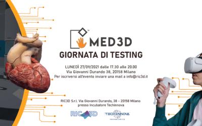 MED3D VR LAB – Seconda giornata di testing
